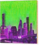 Houston Skyline 85 - Pa Wood Print