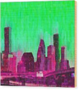 Houston Skyline 86 - Pa Wood Print