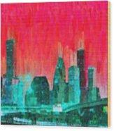Houston Skyline 91 - Pa Wood Print