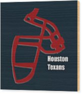 Houston Texans Retro Wood Print