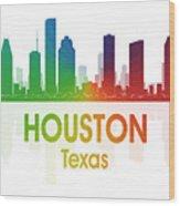 Houston Tx Wood Print