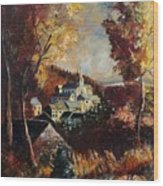 Houyet Village Belgium Wood Print