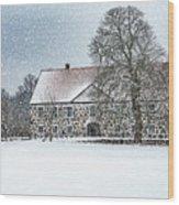 Hovdala Castle Main House In Winter Wood Print