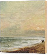 Hove Beach Wood Print by John Constable
