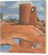 Hovenweep Reflection Wood Print