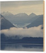 Hovering Cloud At Lake Sylvenstein Wood Print