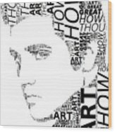 How Great Thou Art Elvis Wordart Wood Print