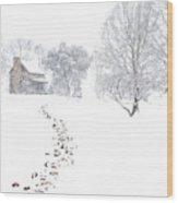 How Many Snows? Wood Print