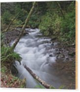 How The River Flows Wood Print