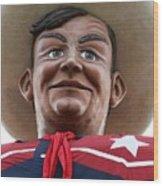 Howdy Folks - Big Tex Portrait 02 Wood Print