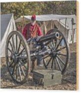Howitzer Battle Of Honey Springs V3 Wood Print