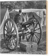 Howitzer Battle Of Honey Springs V4 Wood Print