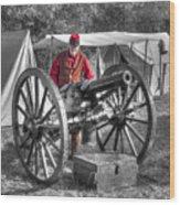 Howitzer Battle Of Honey Springs V5 Wood Print