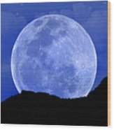 Howl At The Moon Wood Print