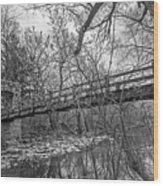 Hoyt Park Pedestrian Bridge Wood Print