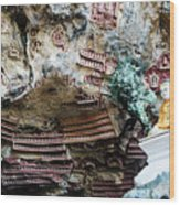 Hpa-an Caves Wood Print