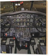 Hu-16b Albatross Cockpit Wood Print