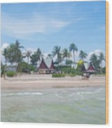 Huahin Beach View Wood Print