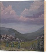 Hualapai Mountains Wood Print