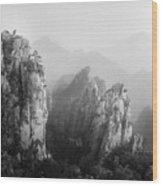 Huangshan Peaks Wood Print by Vincent Boreux Photography