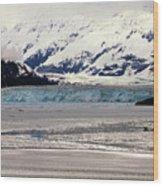 Hubbard Glacier Alaska Wilderness Wood Print