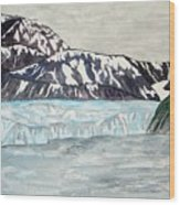 Hubbard Glacier In July Wood Print