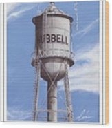 Hubbell Water Tower Poster Wood Print