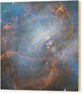 Hubble Captures The Beating Heart Of The Crab Nebula Wood Print