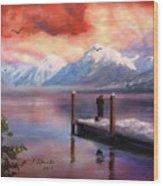 Hudson Bay Winter Fishing Wood Print