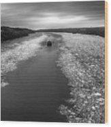 Hudson River In Winter Wood Print