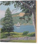 Hudson River Schooner Wood Print