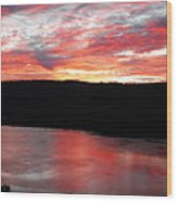 Hudson River Sunrise Wood Print