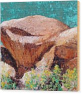 Hueco Tanks Rocks Wood Print