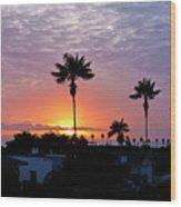 Hued Sunset  Wood Print