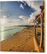 Huequito Beach Wood Print