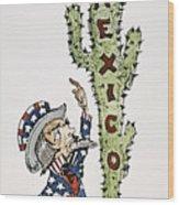 Huerta: Cartoon, C1914 Wood Print