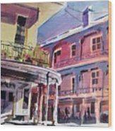 Hues Of The French Quarter Wood Print