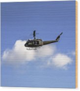 Huey Helicopter Wood Print