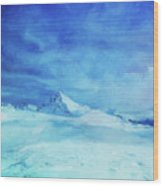 Huge And Blue Wood Print