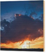 Huge Dusk Cloud Wood Print