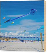 Huge Kites Delray Beach Wood Print