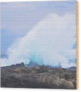 Huge Storms River Splash Wood Print