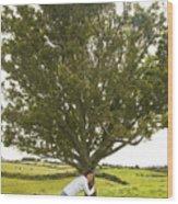 Hugging The Fairy Tree In Ireland Wood Print