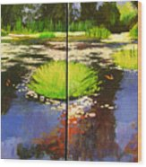 Hughes Water Garden Wood Print