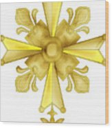 Huguenot Golden Cross Wood Print