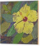 Hula Girl Hibiscus Wood Print