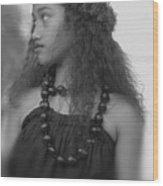 Hula Girl Wood Print