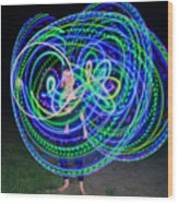 Hula Hoop In Light Wood Print