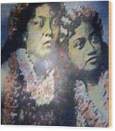 Hula Kaika Ma Hine Wood Print