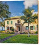 Hulihe'e Palace, Kona, Big Island Hawaii Wood Print